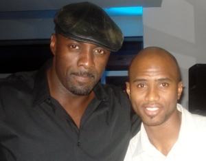 Idris Elba with SuperPEC of Highlanda