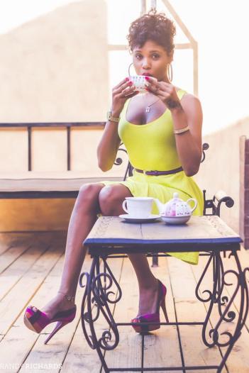 denyque yellow dress