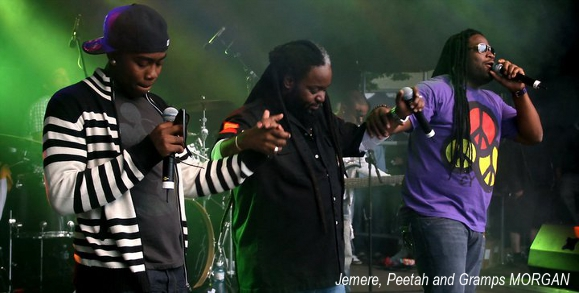 recording artist Jemere Morgan with Morgan Heritage family