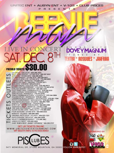 The return of The Doctor, Beenie Man, King of the Dancehall to Atlanta