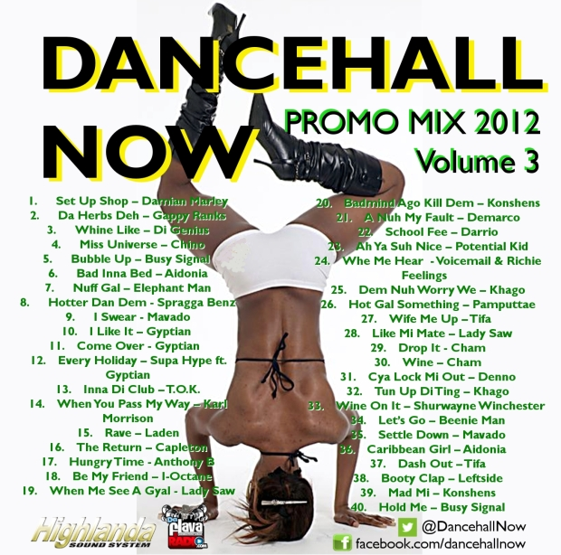 Dancehall Now 2012 Promo Mix Volume 3
