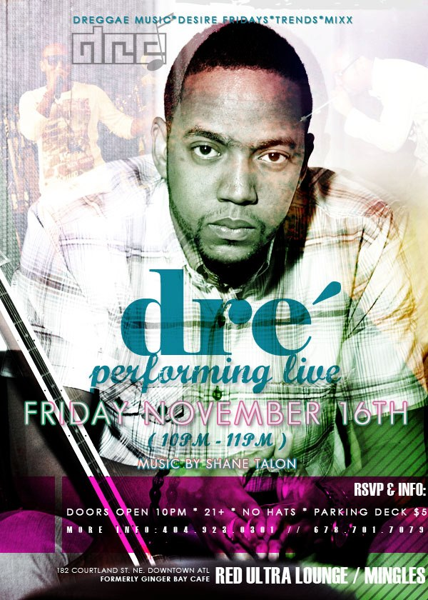 Dre Performing Live  at Red Ultra Lounge