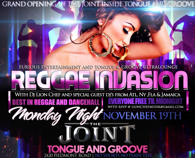 Reggae Invasion at Tongue & Groove Mondays is The Joint