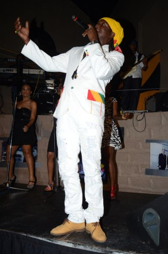 Richie Spice on stage at Usain Bolt's Tracks & Records venue, for his Soothing Sounds: Acoustic album launch.