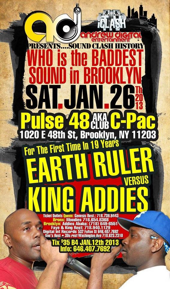 King Addies versus Earth Ruler