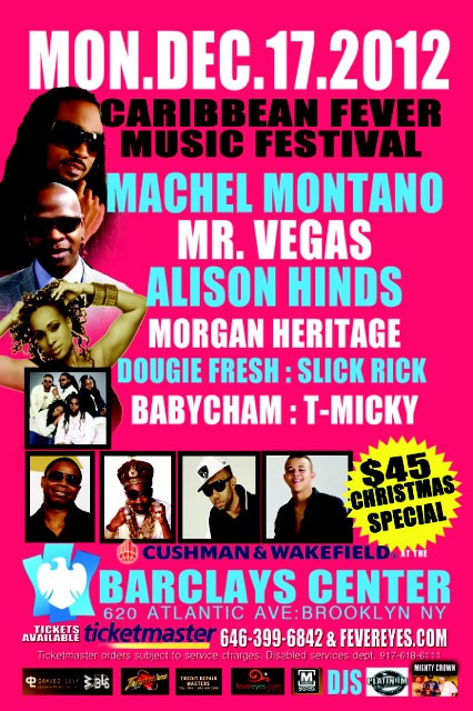 @ Brooklyn's Barclays Center  Featuring Machel Montano, Alison Hinds, Mr. Vegas, Slick Rick, Doug E. Fresh and more