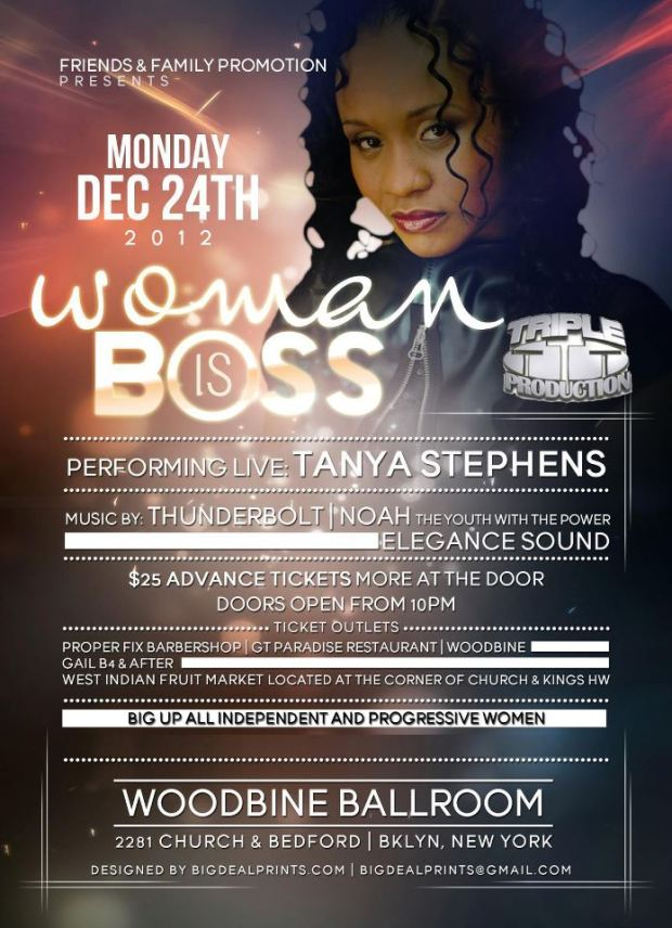 Tanya Stephens live!