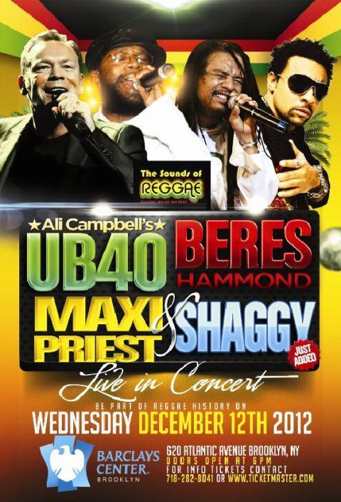 ub40, Beres, Shaggy, Maxi Priest