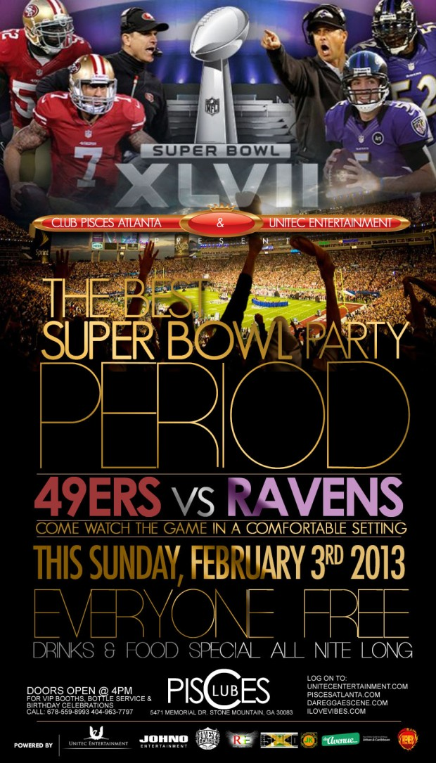 The Best Super Bowl Party Period - This Sunday, February 3rd @ Club Pisces