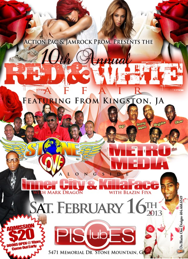 10th Annual Red and White Affair: Stone Love, Metro Media, Inner City, KillaFace