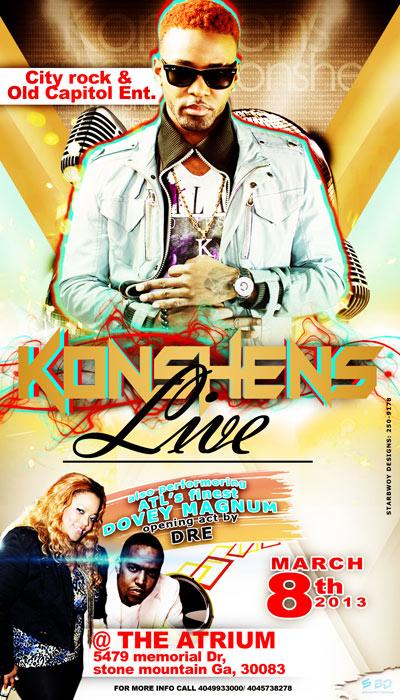 Konshens live in ATL flyer