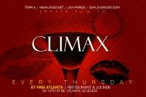 CLIMAX, every Thursday Night in the City of Atlanta