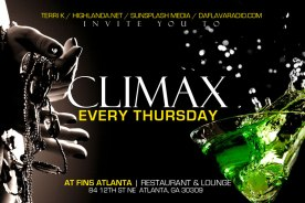 Weekly Event: CLIMAX, Thursday Nights at Fins