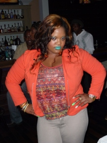 Dovey Magnum hosting CLIMAX at Fins, downtown Atlanta