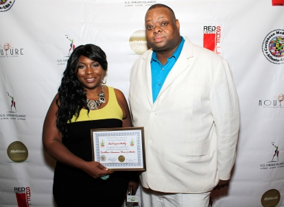 Red Carpet Shelley with Michael Thomas of the Caribbean Media Network