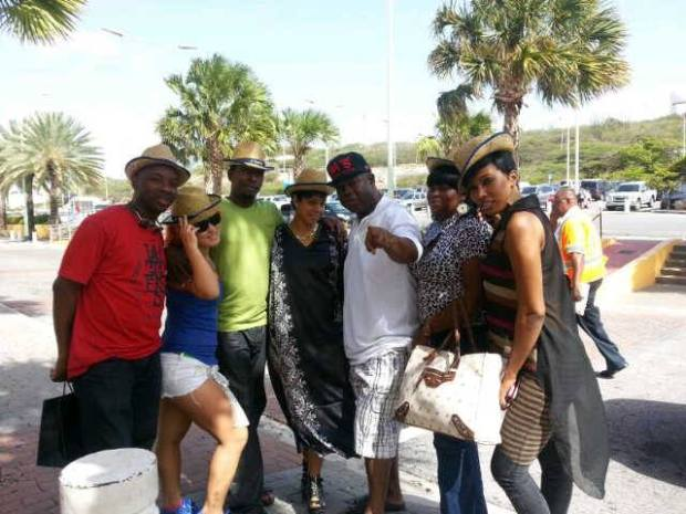 Danielle D.I. arrives in Curacao with BET Award performers, Shaka Demus & Pliers, dancers Tsuna Kiss and Timry