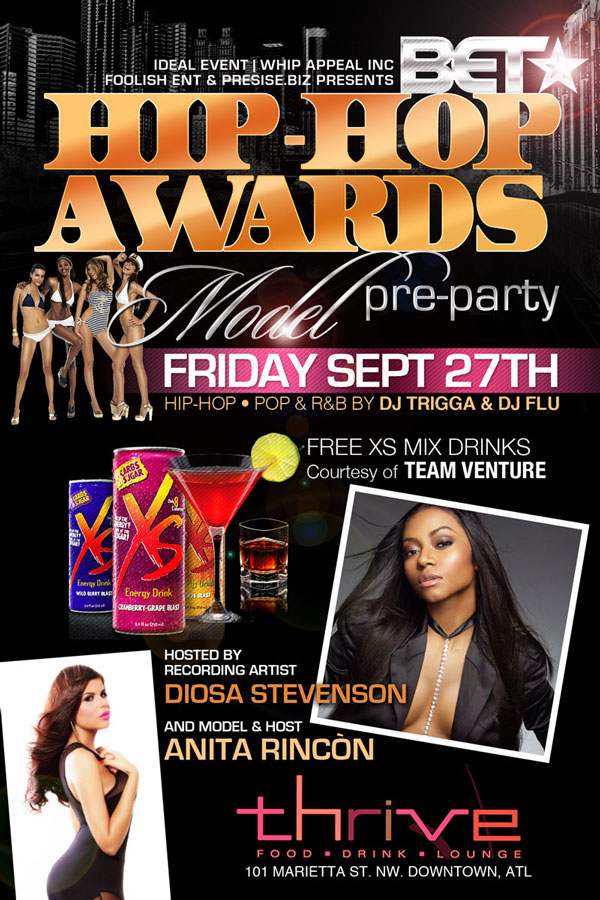 B.E.T Hip-Hop Awards Model Pre-Party Friday at Thrive