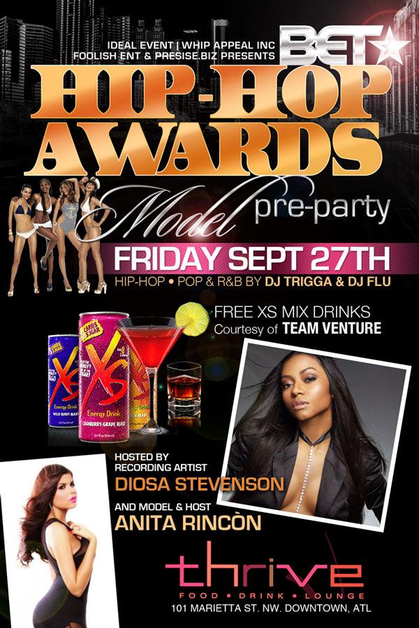 B.E.T Hip-Hop Awards Model Pre-Party Friday at Thrive