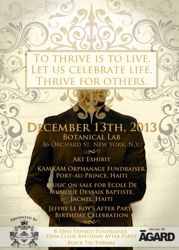 FUNDRAISER AND AFTER PARTY FOR KAMKAM ORPHANAGE IN PORT AU PRINCE HAITI
