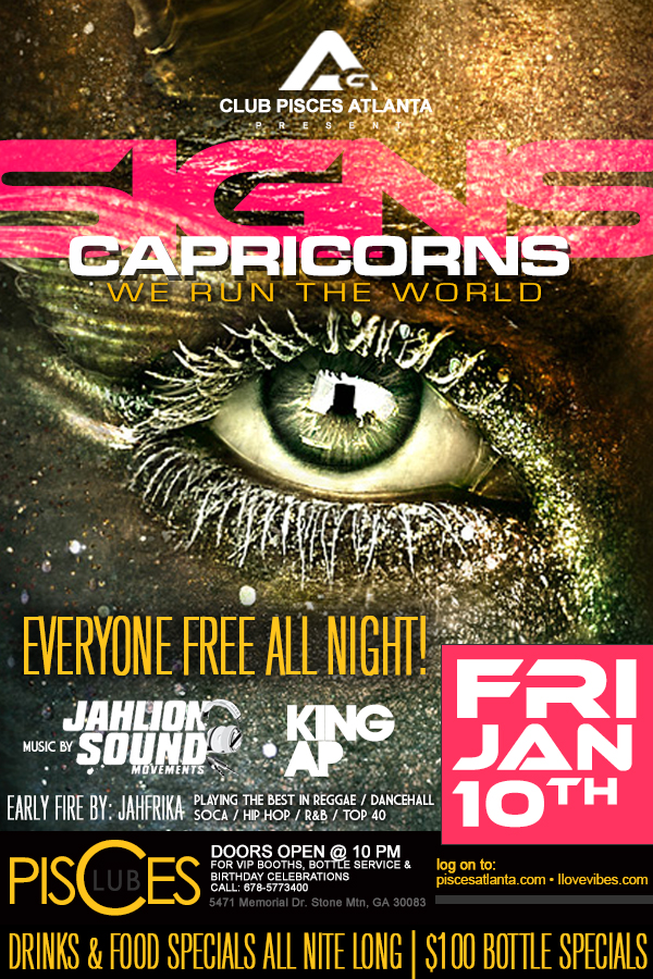 Access Granted *SIGNS* Capricorn Edition, Fri. Jan 10th