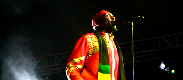 Jimmy Cliff on stage at the Malasimbo Music and Arts Festival 2013