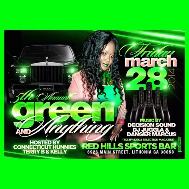 "Dovey Magnum's 5th Annual ""Green and Anything"" at Red Hills March 28th"