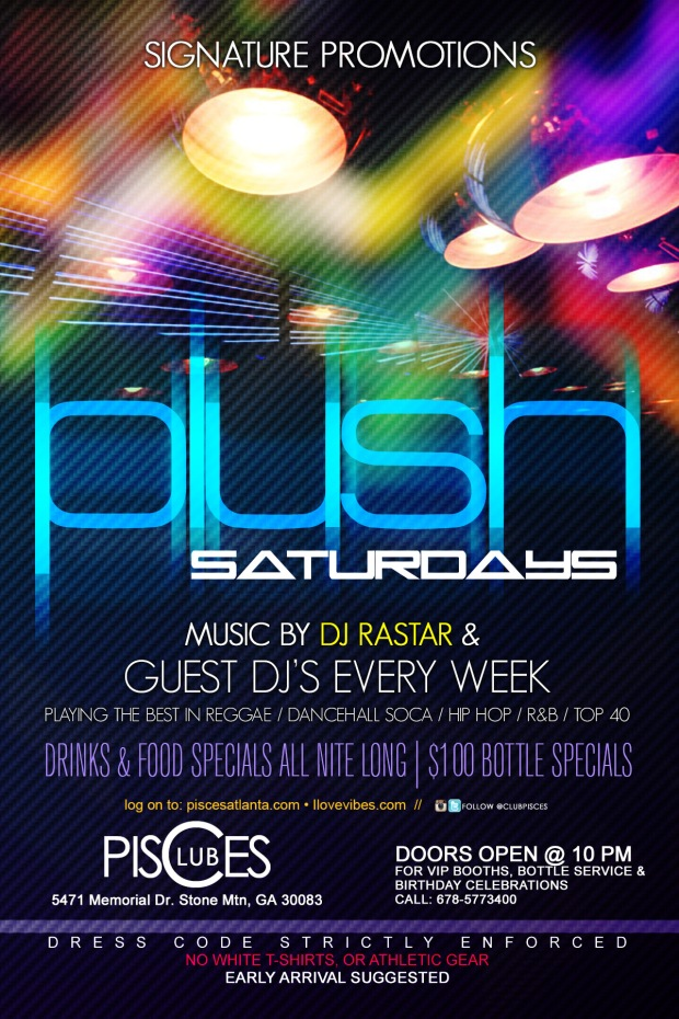 Plush @ Club Pisces ad