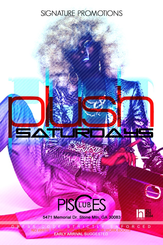 Plush Saturdays at Pisces poster