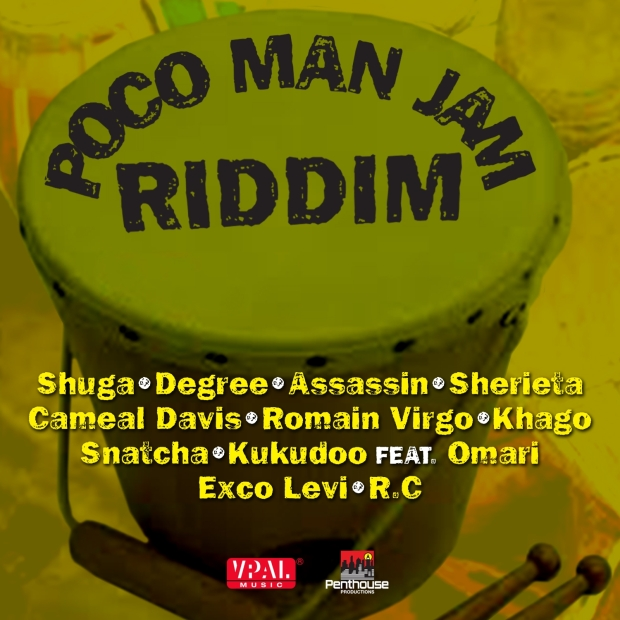 Available today in stores and online, look out for Penthouse Records new Poco Man Jam Riddim featuring Romain Virgo, Assassin, Exco Levi, and more.