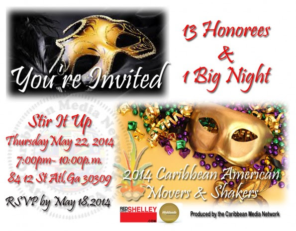 You're Invited to the 2014 Caribbean American Movers & Shakers event - Click Here to RSVP Today