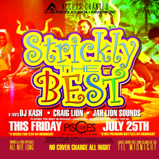 Sticky the Best edition of Access Granted this Friday with DJ Kash, Craig Lion, and JahLion Sounds