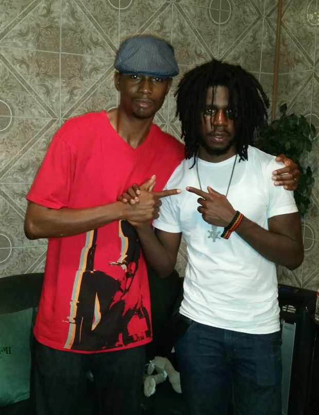 Kahlil Wonda and Chronixx backstage at The Atrium  (Stone Mountain, GA)