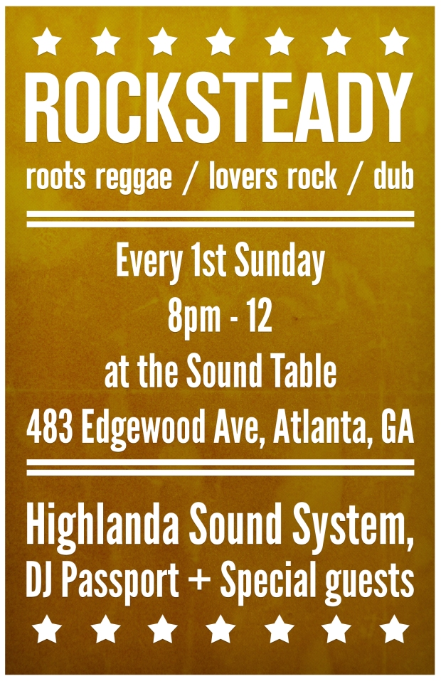 REGGAE: 1st Sundays at the Sound Table #ATL