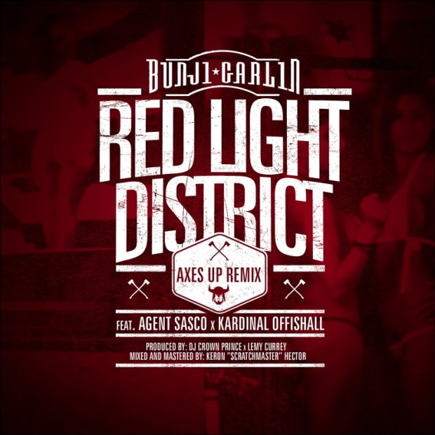BUNJI GARLIN FT AGENT SASCO & KARDINAL ... - RED LIGHT DISTRICT (REMIX) - Artwork