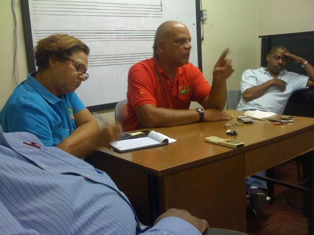 members of JARIA (meeting for Reggae Month)