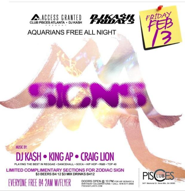 DJ Kash, King AP, and Craig Lion this Friday