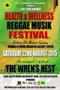 Health and Wellness Reggae Music Festival poster 2015