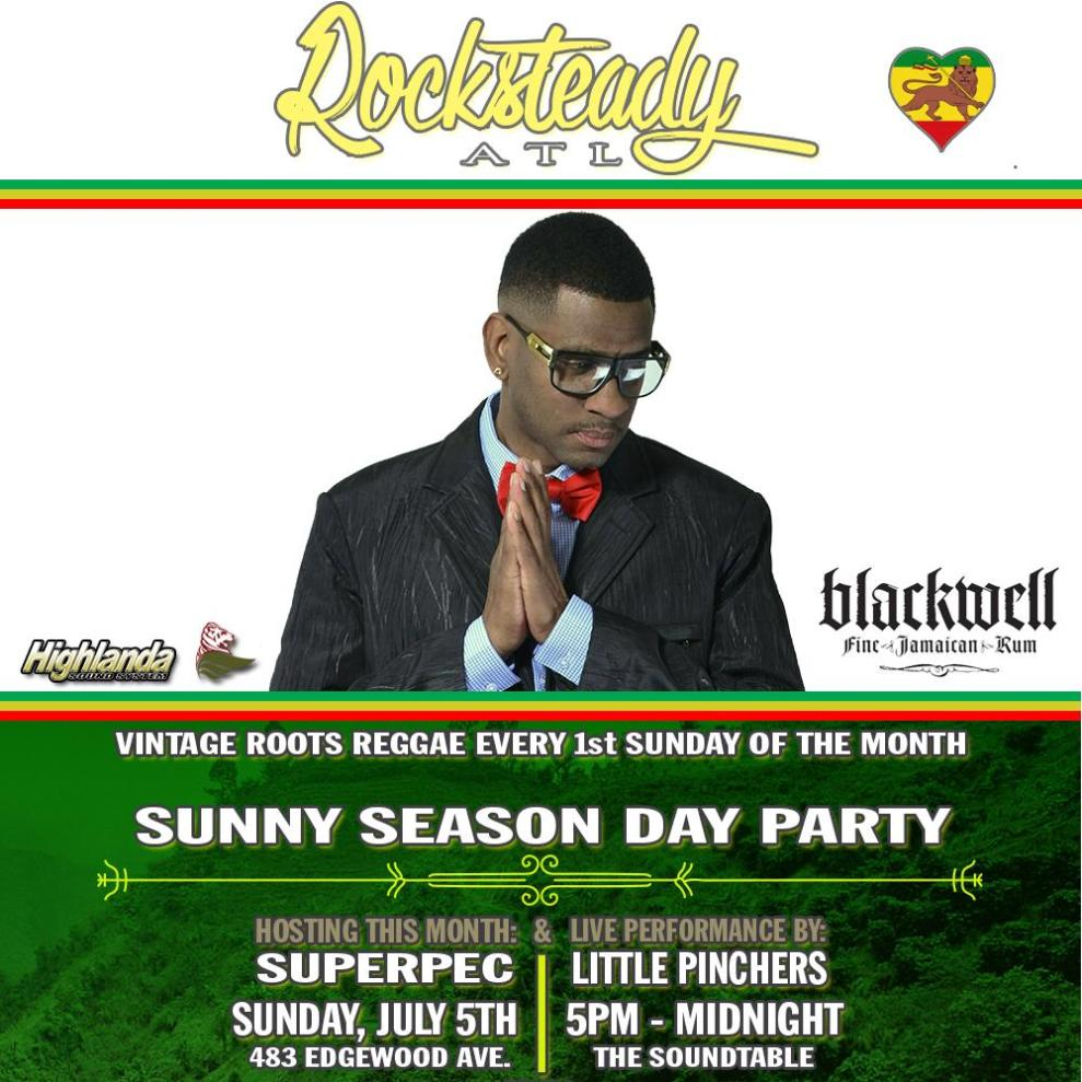 Reggae singer Little Pinchers to perform at the ROCKSTEADY ATL First Sunday Day Party in July coming off of his appearance in Jamaica with Sizzla.