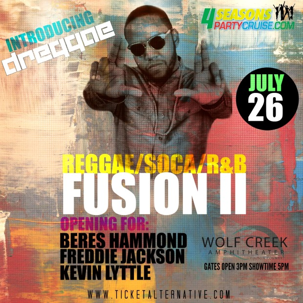 Dreggae joins a super line-up: Beres Hammond, Freddie Jackson, and Kevin Little for Reggae Soca R&B Fusion ii concert