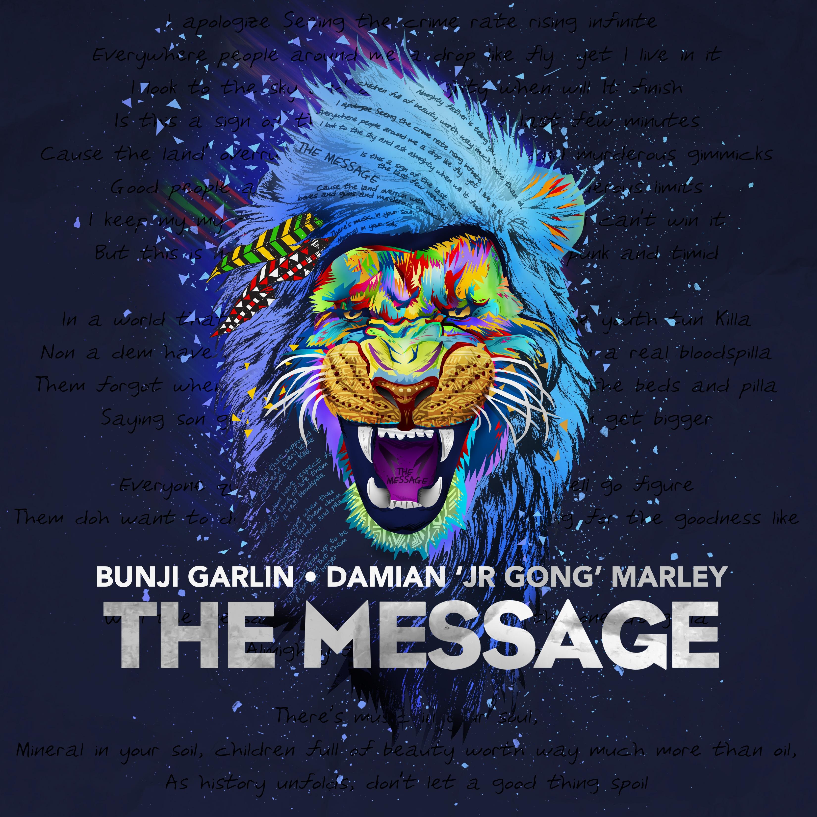 Bunji Garlin ft Damian Marley - The Message - Artwork
