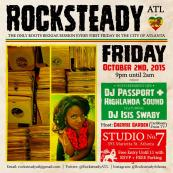 We @kahlilwonda @shannonsevans @thcintl @isisswabyintl @cherriegarden would like to share this with you. RSVP for parking pass and free admission until 11pm (rocksteadyatl at gmail.com) #RocksteadyATL 10.2 @studiono7