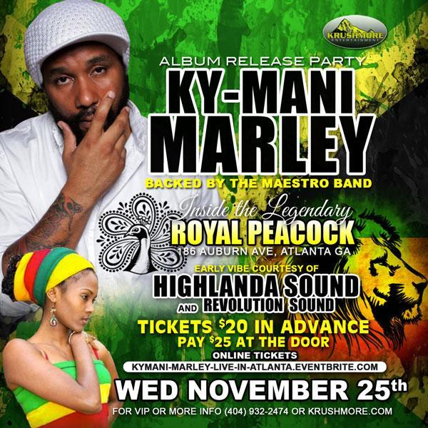 image: Ky-Mani Marley at The Royal Peacock in Atlanta flyer