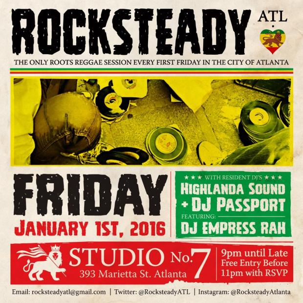 Every first Friday, Rocksteady ATL explores the sub genres of reggae music..dub, lover's rock, roots and rocksteady.