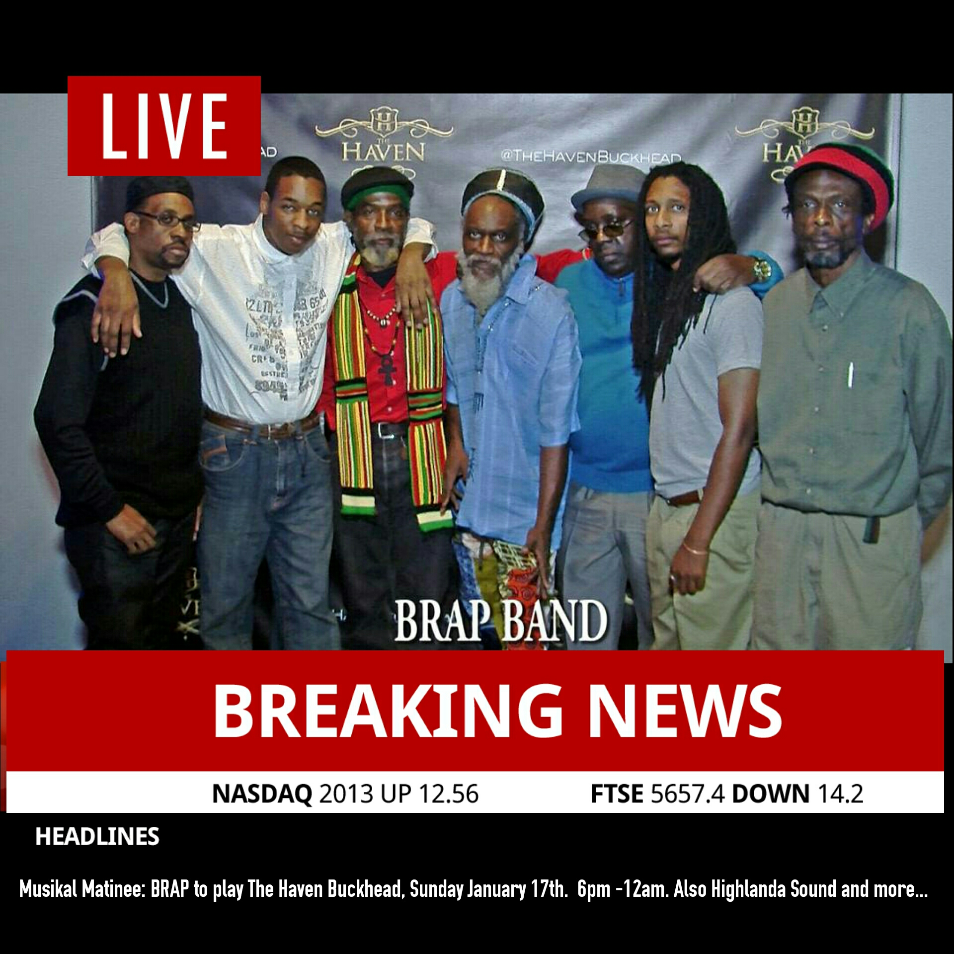 B.R.A.P. is a Reggae band doing only originals to inform uplift and elevate the masses of the real life energies.