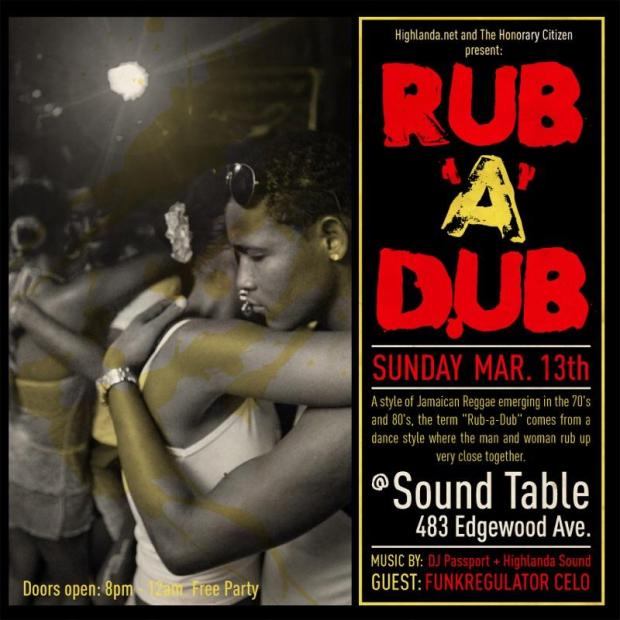 Rub-A-Dub at The Sound Table