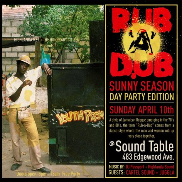 Rub-a-Dub ATL Day Party, Sunday April 10.