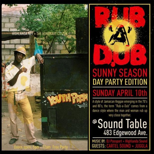 Rub-a-Dub ATL Day Party, Sunday April 10.