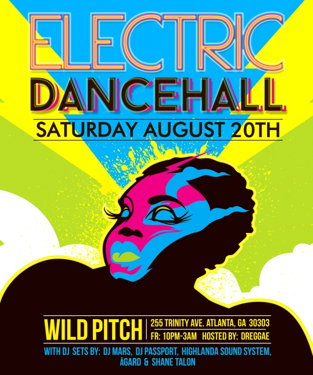 Electric Dancehall Atlanta original artwork