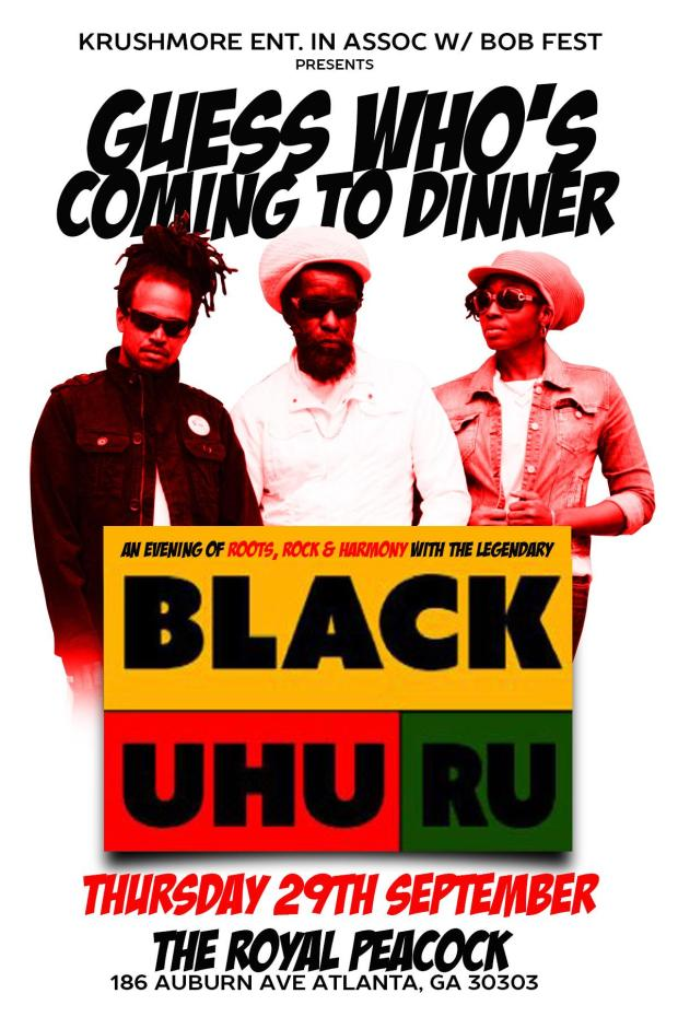 Black Uhuru poster - Atlanta