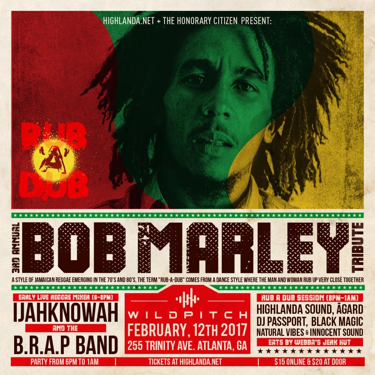 Bob Marley 72nd Birthday Bash & Musical Tribute